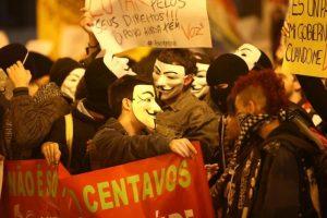 V de Vingança manifestações