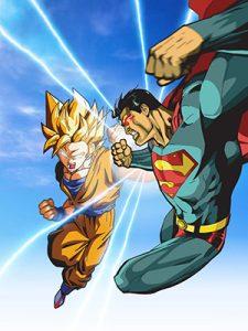 histórias em quadrinhos Goku vs Super
