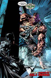 Batman vs Duas Caras marombado por causa do bane