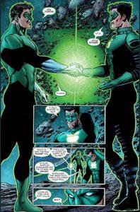 encontro entre Lanternas Verdes
